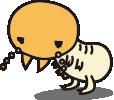 ヤマトシロアリの働きアリ