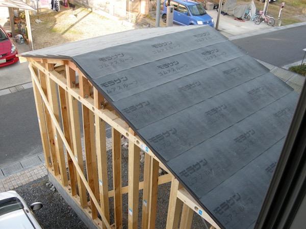 ガレージ屋根防水