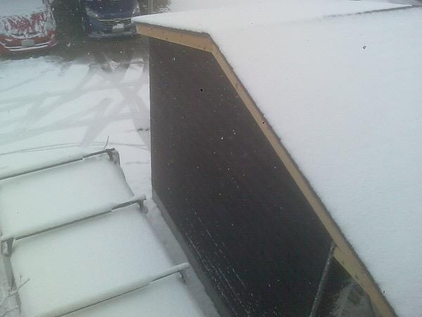 ガレージ作成_雪