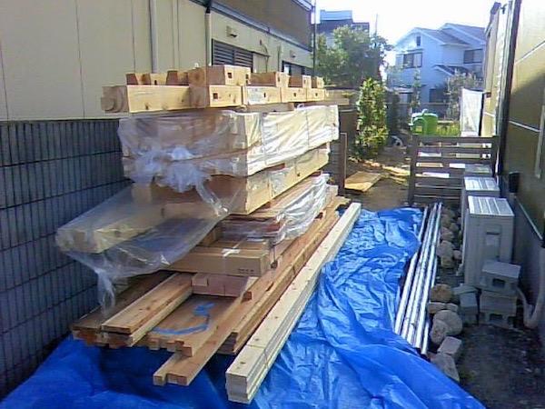 ガレージ用木材