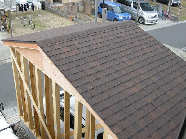 ガレージ屋根シングル